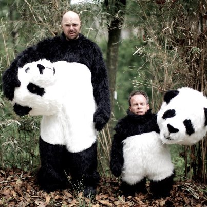 Karl and Warwick as Pandas