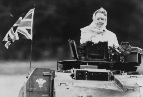 Thatcher in a tank